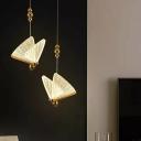 Artistic Butterfly Pendant Lighting Acrylic Living Room LED Hanging Ceiling Ligh