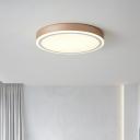 Round Study Room Flush Ceiling Light Acrylic Contemporary LED Flush Mount Lighting Fixture