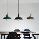 Loft Style Barn Shade Pendant Lighting Single Metal Hanging Ceiling Light for Dining Room