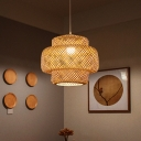 Nordic Style Tiered Ceiling Light Bamboo Single Restaurant Hanging Pendant Lighting