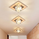 Crystal Cube Spotlight Ceiling Light Simplicity Flush Mount Led Light for Corridor