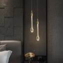 Gold Teardrop LED Pendant Lighting Post-Modern Blown Glass Ceiling Suspension Lamp