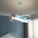 Plane Kids Bedroom LED Hanging Light Acrylic Minimalistic Chandelier Pendant Light