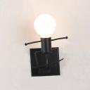 Modern Style Little Man Sconce Lighting Iron Single Living Room Wall Light Fixture