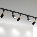 Nordic Track Light Fixture Tubular Semi Flush Mount Ceiling Light with Metal Shade for Clothing Store