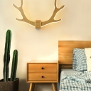 Antler LED Wall Mounted Light Artistic Metal Bedroom Sconce Lighting Fixture with Acrylic Shade