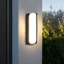 Black Geometric Shaped Wall Lighting Minimalism Acrylic LED Sconce Fixture for Garden
