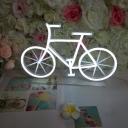 White Statuette LED Night Lamp Creative Plastic Table Lighting for Childrens Bedroom