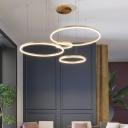 Loop Layered Acrylic LED Ceiling Lighting Modern Gold Chandelier Light for Living Room