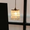 Shell Wind Chime Ceiling Light Retro Style Single-Bulb Bedroom Hanging Pendant Light
