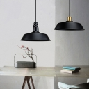 Black Lampshade Suspension Light Loft Iron 1 Head Dining Room Ceiling Pendant Lamp