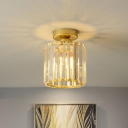 Ball Faceted-Cut Crystal Island Lamp Modern Style Hanging Light Fixture for Dining Room