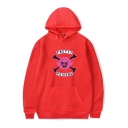 Fancy Letter PRETTY POISONS Printed Long Sleeve Oversized Drawstring Hoodie