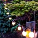 Contemporary Bulb Shaped LED String Light Plastic Courtyard Solar Powered Fairy Lighting
