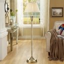 Traditional Tapered Shade Floor Light 1-Light Pleated Fabric Stand Up Lamp for Living Room