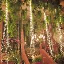Copper Wire Solar String Lamp Art Decor White LED Fairy Lighting for Outdoor, 6.5ft