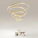 Layered Chandelier Lighting Minimalist Acrylic Living Room LED Pendant Light Fixture