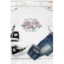 Simple QUEER & TRANS YOUTH Floral Printed Long Sleeve Round Neck Pullover Sweatshirt