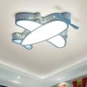 Kids Style Plane Shape Flush Mount Lighting Acrylic Nursery LED Flush Mount Fixture