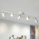 Tubular Metal Ceiling Track Lighting Minimalist Semi Flush Mount Spotlight for Living Room