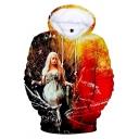 Game of Thrones Daenerys Targaryen 3D Printed Long Sleeve Sport Casual Hoodie