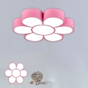 Floral Shape LED Flush Mount Childrens Acrylic Nursery Flushmount Ceiling Lighting