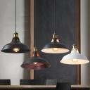1-Light Barn Pendant Ceiling Light Industrial Iron Suspension Lamp with Vent for Restaurant