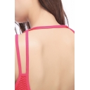 Womens Camisole Fitness Breathable Mesh Beauty Back Slim Fitted Sleeveless Scoop Neck Cami Top