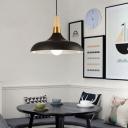 Swelled Shape Ceiling Pendant Light Nordic Metal 1-Light Hanging Lamp for Restaurant