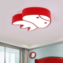 Cartoon Jellyfish Ceiling Flush Light Acrylic Kids Bedroom LED Flush Mount Lighting