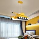 Tank Shaped Metallic Pendant Lamp Creative LED Ceiling Chandelier for Boys Bedroom