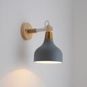 Iron Teardrop Shaped Wall Lighting Macaron 1 Bulb Reading Light with Adjustable Joint