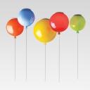 Plastic Balloon Ceiling Fixture Cartoon 1 Bulb Semi Flush Mount Light for Kids Playroom