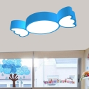 Candy Kindergarten LED Ceiling Light Acrylic Cartoon Flush Mounted Light Fixture