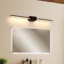 Linear LED Wall Vanity Light Simple Metal Bathroom Wall Sconces Lighting Fixture