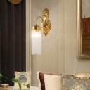 Tassel Living Room Sconce Light Fixture Traditional Clear Glass Rods Gold Finish Wall Light