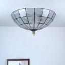 Tiffany Bowl Shade Ceiling Mount Light Fixture 2/3/4 Lights 12