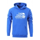 Men's Chic Unique Letter THE FIRST ORDER Logo Pattern Long Sleeve Big Pullover Hoodie