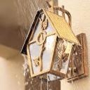 Bronze Cabin Wall Mount Light Antique Style Metal Single-Bulb Outdoor Wall Lantern