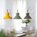 Hourglass-Like Dining Room Down Lighting Metal 1 Head Macaron Hanging Ceiling Light