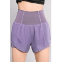Gym Womens Shorts 2-in-1 Anti-Emptied Quick Dry Regular Fit Elastic Ultra High Waist Yoga Shorts
