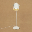 Industrial Simple 18''H Desk Lamp with Metal Shade in White