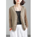 Basic Girls Cardigan Plain Long Sleeve Button Up Relaxed Fit Cardigan