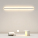 White Bar LED Vanity Lighting Minimalistic Acrylic Flush Wall Sconce for Bathroom