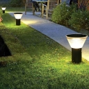 Acrylic Conic Solar Ground Lighting Simplicity Black LED Path Lamp for Courtyard