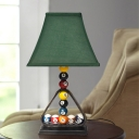 Billiard Table Lamps Modern Simple Iron and Fabric 1 Head Accent Table Lamp for Bedroom Bedside