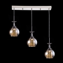 Lovely Sparkle of Crystal within Modern Glass Encasement and Unique Design Made Stunning Multi Light Pendant