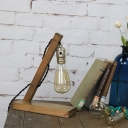 Accent Industrial LED Mini Table Lamp with One Edison Bulb