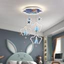 Princess Cluster Pendant Cartoon Resin 19 Inchs Wide Girl's Bedroom Hanging Lamp