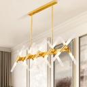 2-Layer Tubular Chandelier Simple 40 Lights Metallic Ceiling Pendant Lamp for Living Room